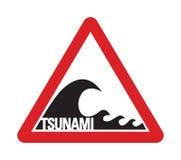 tsunamiwarningsign Стоковая Фотография