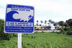 tsunamy的危险等级 库存图片