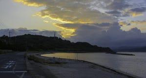 Tsunoshima海 库存图片