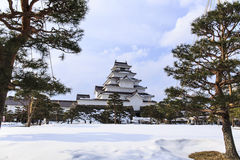 Tsuruga Castle font view Stock Photos