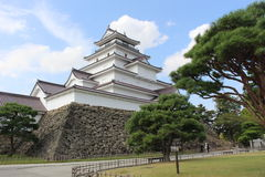 Tsuruga-jo slott, Japan royaltyfri fotografi