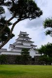 Tsuruga-PB kasteel in aizuwakamatu stock afbeeldingen