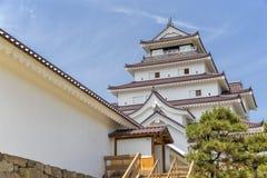 Tsurugajo, το ιαπωνικό Castle σε Aizu Wakamatsu Φουκουσίμα, Ιαπωνία Στοκ εικόνα με δικαίωμα ελεύθερης χρήσης