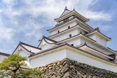 Tsurugajo, castello giapponese in Aizu Wakamatsu Fukushima, Giappone Immagini Stock Libere da Diritti
