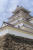Tsurugajo, castelo japonês em Aizu Wakamatsu Fukushima, Japão Fotos de Stock