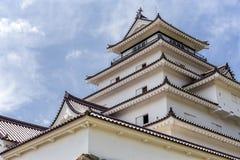 Tsurugajo, castillo japonés en Aizu Wakamatsu Fukushima, Japón Foto de archivo libre de regalías