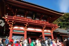 Tsurugaoka Hachiman顾寺庙 库存图片