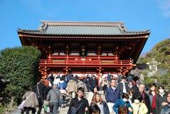 Tsurugaoka Hachiman顾寺庙 库存照片