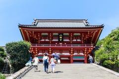 Tsurugaoka Hachimangu寺庙在镰仓 免版税库存照片