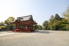 Tsurugaoka Hachimangu寺庙,镰仓,日本 免版税图库摄影
