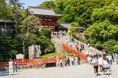 Tsurugaoka Hachimangu寺庙 图库摄影