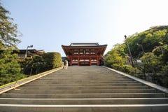 Tsurugaoka Hachimangu relikskrin, Kamakura, Japan Royaltyfria Foton