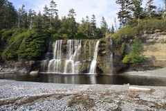 Tsusiat Falls on the West Coast Trail Stock Photo