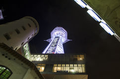 Tsutenkaku Tower in Shinsekai, Osaka, Japan Stock Images