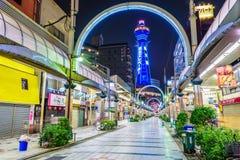Tsutenkaku-Turm in Osaka Stockbild