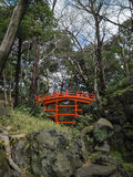 Tsutenkyo桥梁在Koishikawa后乐园庭院里 免版税库存照片