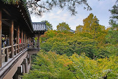 Tsutenkyo Bridge at Tofukuji Temple royalty free stock photos