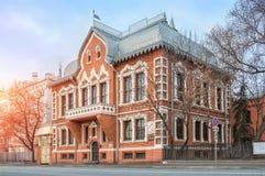 Tsvetkov-` s Haus-Schatulle Lizenzfreies Stockfoto