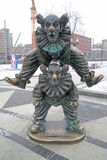 Tsvetnoy Boulevard. Sculpture clowns Stock Images