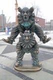 Tsvetnoy Boulevard. Sculpture clowns Stock Images