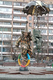 Tsvetnoy Boulevard. Sculpture clowns Royalty Free Stock Images