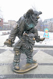 Tsvetnoy Boulevard. Sculpture clowns Stock Photos
