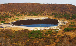 Tswaing Crater. Meteor crater in South Africa Stock Images
