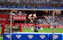 TSYPLAKOV Daniil on MEETING AREVA, Paris IAAF Diamond League. MEETING AREVA, Paris Diamond League competition on 04 July, 2015 royalty free stock photography