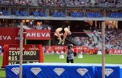 TSYPLAKOV Daniil na SPOTYKAĆ AREVA, Paryski IAAF diamentu liga Fotografia Royalty Free