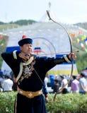 Tsyrempilov à la convention de Mongolians du monde Photos stock