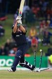 TT Bresnan England Batsman. Is bowled against Australia, 1st semi-final, Champions Trophy, Centurion Park, October 2, 2009 Royalty Free Stock Image
