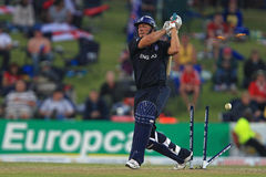 TT Bresnan England Batsman. Is bowled against Australia, 1st semi-final, Champions Trophy, Centurion Park, October 2, 2009 Royalty Free Stock Photo