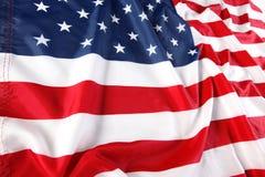 tät flagga för american upp Royaltyfri Bild