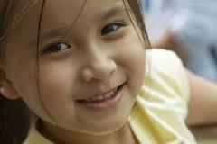 tät flicka singapore upp Royaltyfri Fotografi