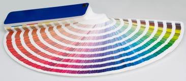 tät färghandbok upp Arkivbilder