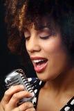 tät jazzmusiker upp Arkivbild