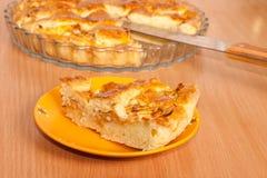 tät pie för äpple upp Royaltyfria Foton