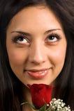 tät rose övre kvinna Royaltyfri Fotografi