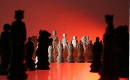 tät övre sikt för schack Royaltyfria Bilder