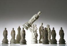 tät övre sikt för schack Arkivbild