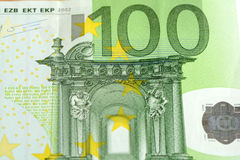täta europeiska euros hundra många upp Royaltyfri Foto