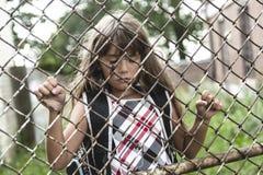 Åtta år flicka för gammal skola Fotografering för Bildbyråer