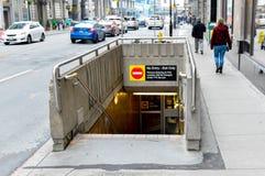 TTC地铁标志多伦多 库存照片