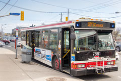 TTC out of service bus due to traffic jam Stock Images