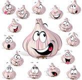 Tête de dessin animé d'ail Images stock