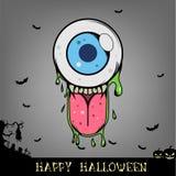 Tête de monstre de boule d'oeil de Halloween Images libres de droits