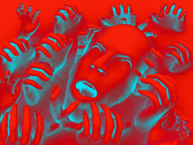 Tête effrayante 12 Image libre de droits