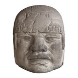 Tête en pierre d'olmec Photos stock