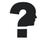 profil de t te humaine avec le point d 39 interrogation illustration stock image 44041570. Black Bedroom Furniture Sets. Home Design Ideas