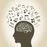 Tête musicale Image libre de droits